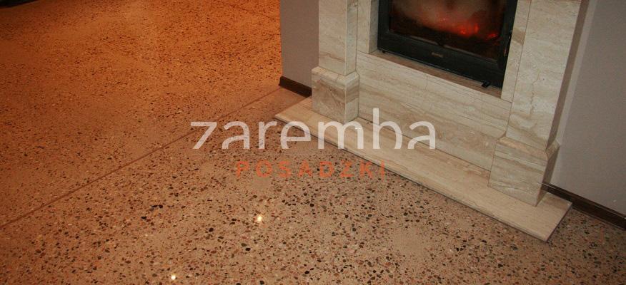 Polerowany beton w salonie