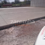 zewnętrzna płyta betonowa po zatarciu - efekt finalny